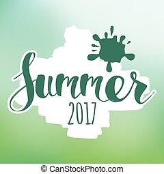 lettering, samenstelling, zomer