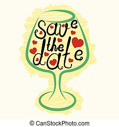 lettering Save the date