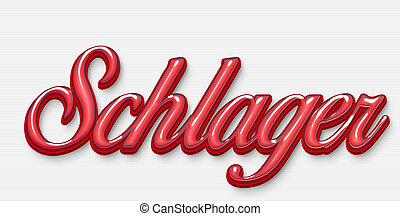 lettering, schlager, german, genre, letter, text, word, love, graphic, design