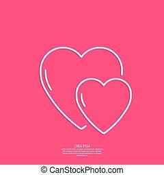 Lettering. St. Valentine Day. - St. Valentine Day. Red...