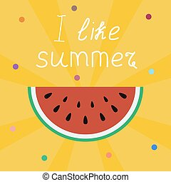 lettering, stralen, liefde, zomer, zon, gele