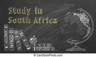 """Study in South Africa - Lettering """"Study in South Africa"""", ..."""