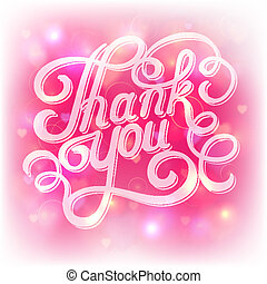 lettering thank you