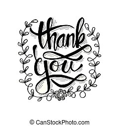 Lettering Thank you.