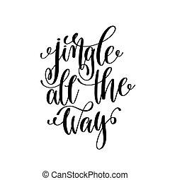 lettering, tudo, positivo, mão, ho, maneira, citação, tinido...