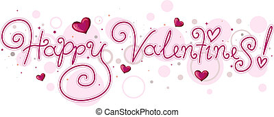 lettering, valentijn