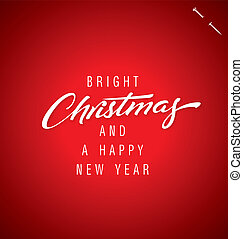 lettering, vector, kerstmis, hand