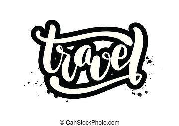 lettering, viagem, escova