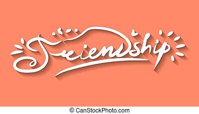 lettering, vriendschap