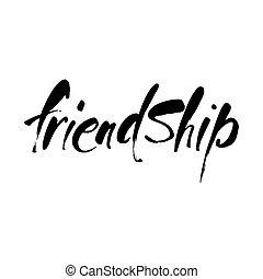 lettering, vriendschap, mal