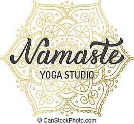 Lettering yoga logo - Hand lettering logo for yoga studio....