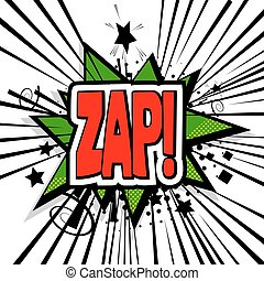 Lettering zap comic text sound