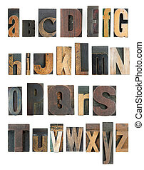 letterpress alphabet - co mplete letterpress high resolution...