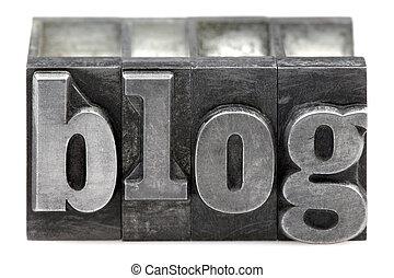 Letterpress Blog - The word Blog in old letterpress printing...