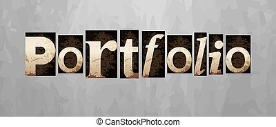 letterpress, conceito, vindima, vetorial, portfolio, tipo
