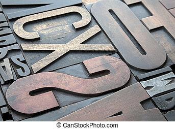 letterpress, fundo