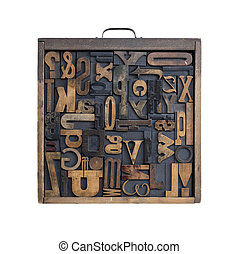 Letterpress letter drawer