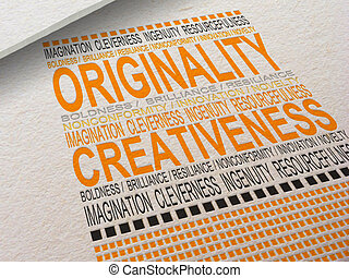 Letterpress Originality - The word Originality letterpressed...