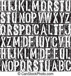 letterpress, seamless, arrière-plan., noir, blanc, version.