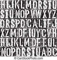 Letterpress seamless background. Black and white version.