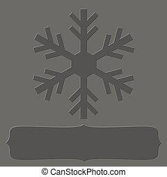 Letterpress snowflake frame