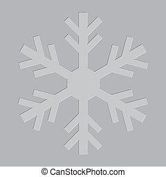 Letterpress Snowflake