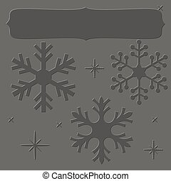 Letterpress snowflakes frame