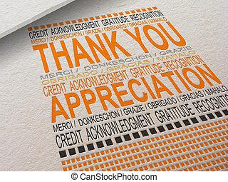 Letterpress Thank You