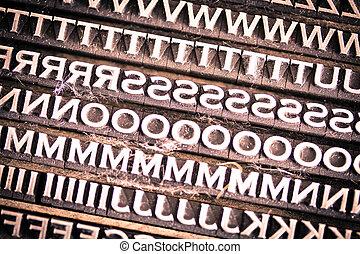 Letterpress Type Background