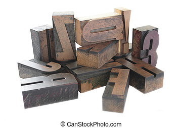 letterpress wood type arrangement