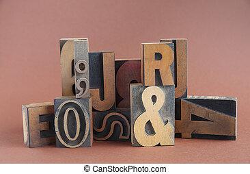 letterpress wood type group