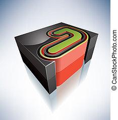 letters:, 3d, j