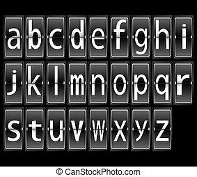 letters alphabet on terminal