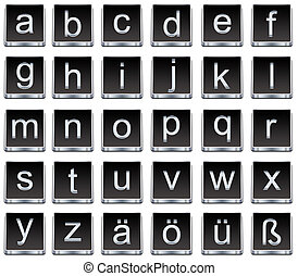 Letters and numbers buttons