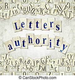 letters authority - seamless background with letters . Linux...