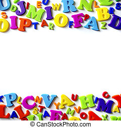 Letters Background - Macro composition of many colorful...