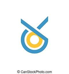 letters ck circle geometric line logo vector