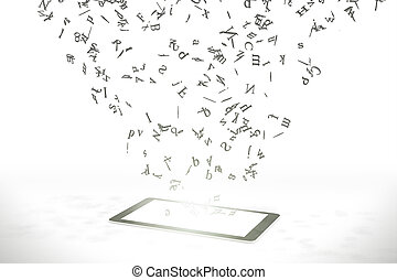 Letters fly from the smartphone