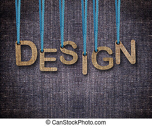 Letters hanging strings - Design Letters hanging strings...