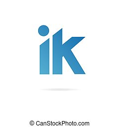 Letters I, K logo. Design template elements, monogram