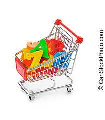 Letters in shopping cart