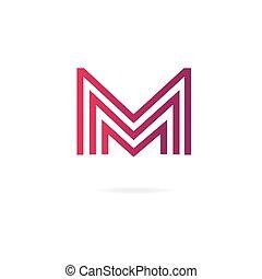 Letters M logo. Design template elements, illusion. -...