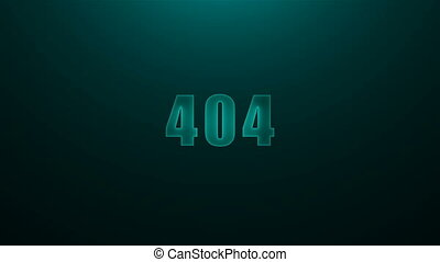 Letters of 404 text on background with top light, 3d render...