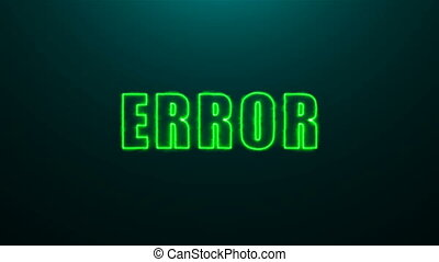 Letters of Error text on background with top light, 3d...