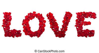 letters of love flower petals