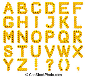 letters of the alphabet from yellow flowers
