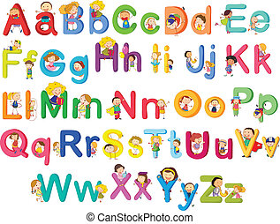 Letters of the alphabet - Illustration of the letters of the...