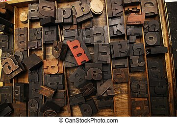 Letters of the alphabet, vintage