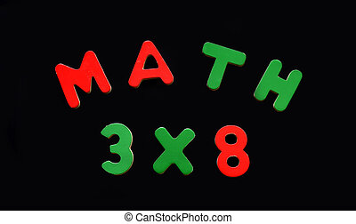 Letters Spell Math Problem Black Magnetic Board