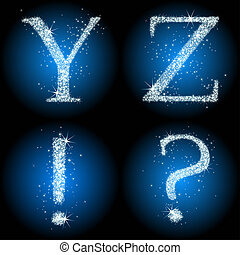 letters stars blue YZ!?, this illustration may be useful as...